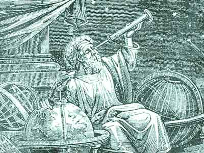 astrologue scrutant le ciel
